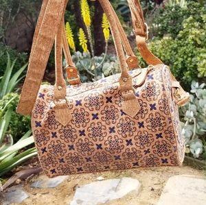 Conscient Kind Ecofriendly Cork Leather Bowler Bag